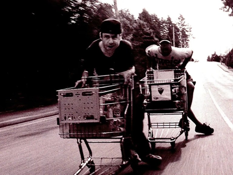 Happiness is A Stolen Shopping Cart